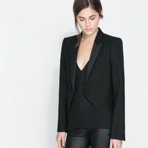 Zara Studio Tuxedo Blazer.